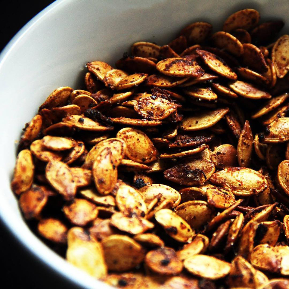 Curry Caramel Pumpkin Seeds